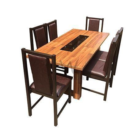 Alvar Pad series: 6 Seater Dining Set (Teak)