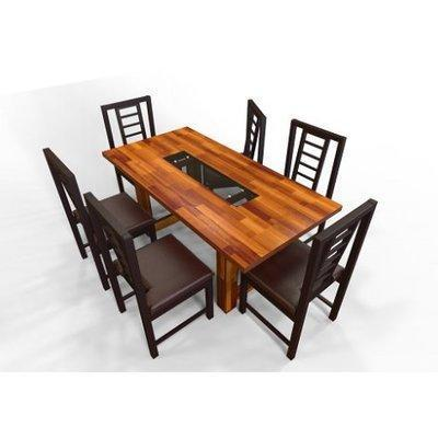 Alvar Series 6 Seater Dining Set - Teak