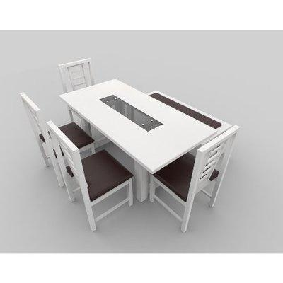 Alvar Series Extra 6 Seater Dining Set - White