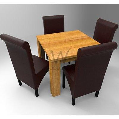 Amon Deluxe Series; 4 Seater Dining Set- Golden-Brown