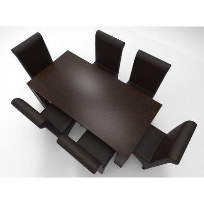 Amon Deluxe Series 6 Seater Dining Set-Dark Brown