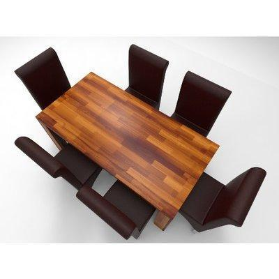 Amon Deluxe Series 6 Seater Dining Set-Teak