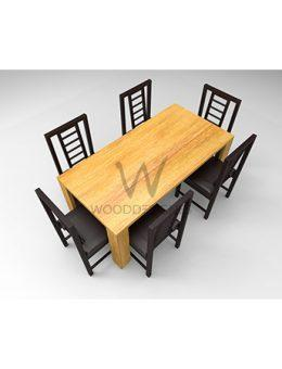 Amon Series - 6 Seater Dining Set - Golden Brown
