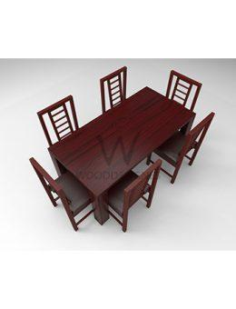 Amon Series - 6 Seater Dining Set - Red Rose