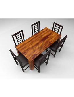Amon Series - 6 Seater Dining Set - Teak