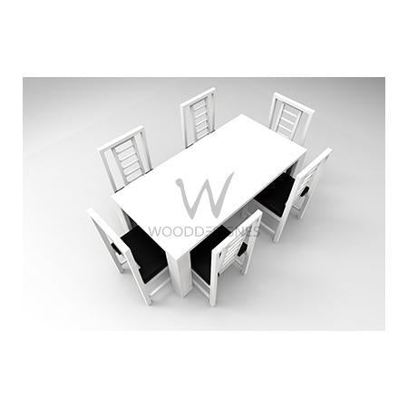 Amon Series 6-seater Dining Set-White