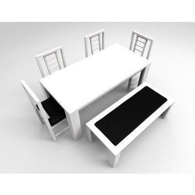 Amon Series Extra - 6-Seater Dining Set - White