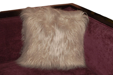 Animal Fur Throw Pillow
