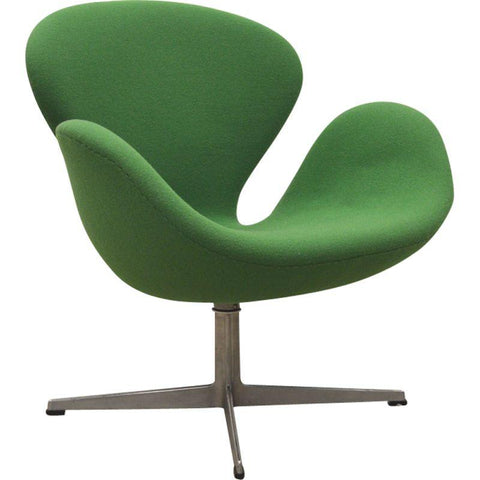 Arne Jacobsen Swan Lounge Arm Chair- Green