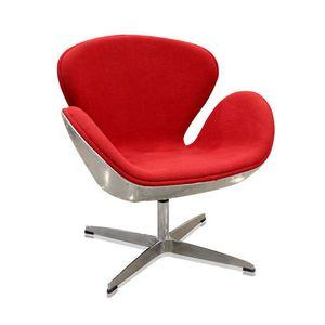 Arne Jacobsen Swan Lounge Arm Chair-Red