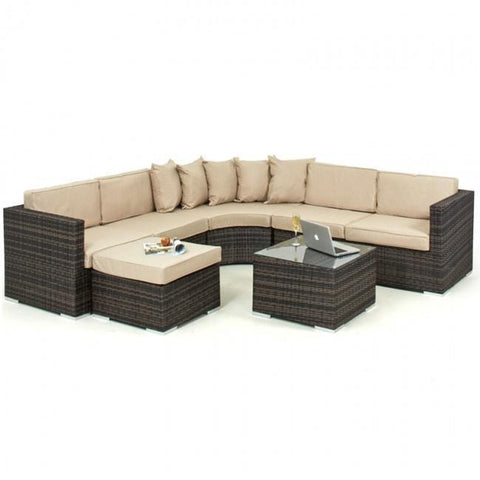 Barcelona 6-7 Seater Rattan Corner Sofa Set