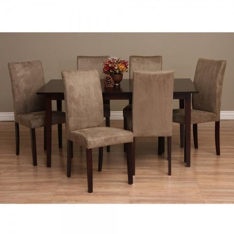 Bax Dining Set - Coffee Brown - 7 Piece