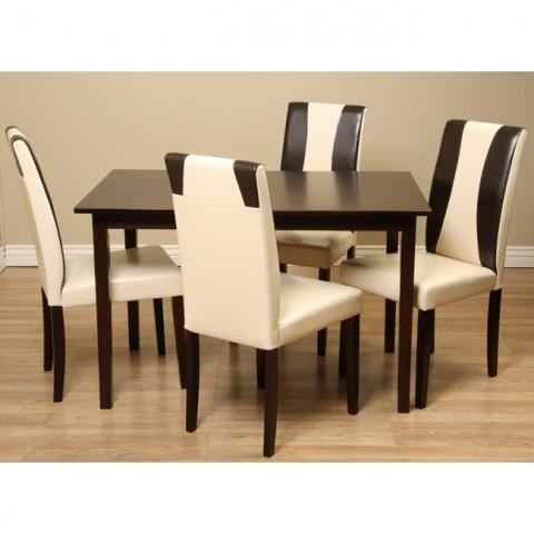 Bax Dining Set - Cream - 5 Piece