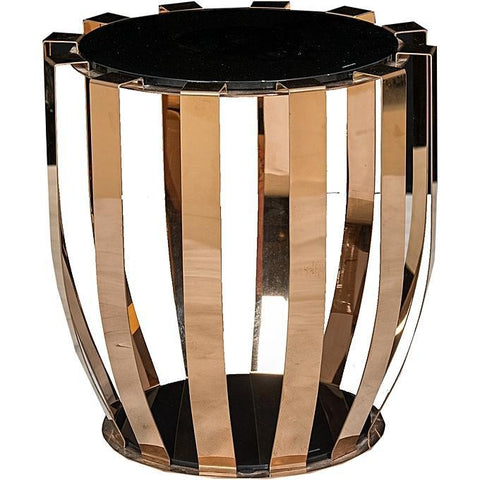 Black And Gold Cocktail Side Stool