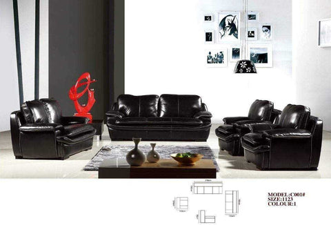 Blanc Leather Sofa Set-C001