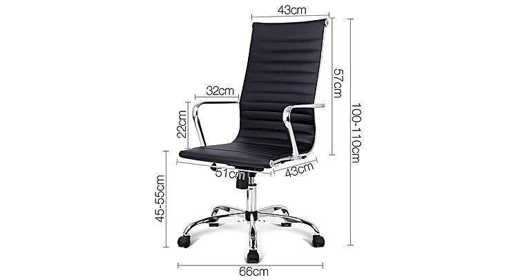 Blaze Black & Chrome High Back Executive Office Chair-LK248A