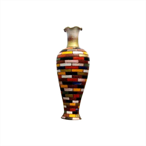 Block Lines Handkerchief Mouth Vase