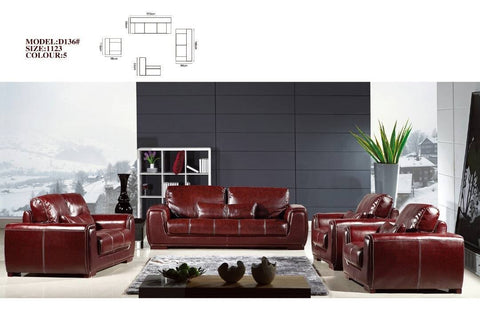 Brogue Leather Sofa Set-D136