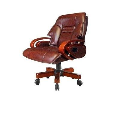 Brown Leather Reclining Chair-G4