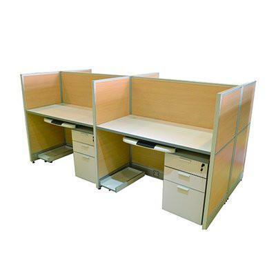 Brown Workstation for 4 persons-BG406