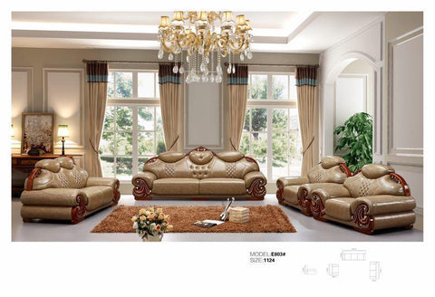 Caitlyn Leather Sofa Set-E803