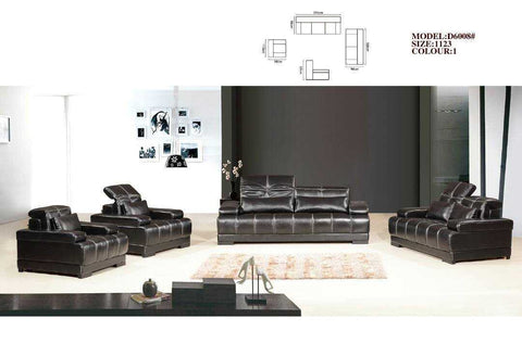 Callucci Leather Sofa Set-D6008