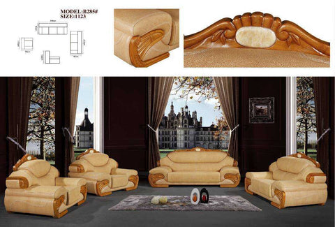 Carego Leather & fabric Sofa set-B285