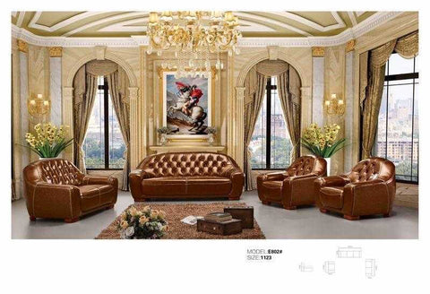 Catalina Leather Sofa Set-E802