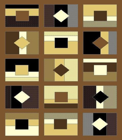 Centre Rug -5050 Brown Series