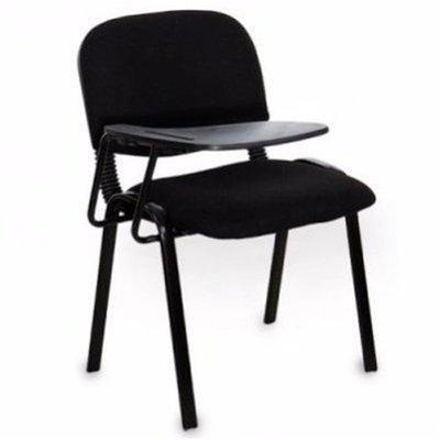 Chair With Writing Pad-Black