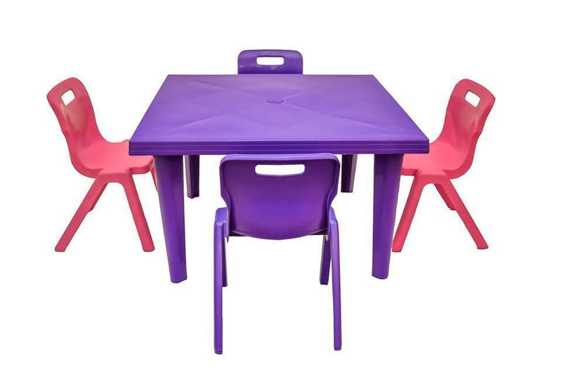 Champion Kiddies Plastic Table +4 Strong S Chairs Set