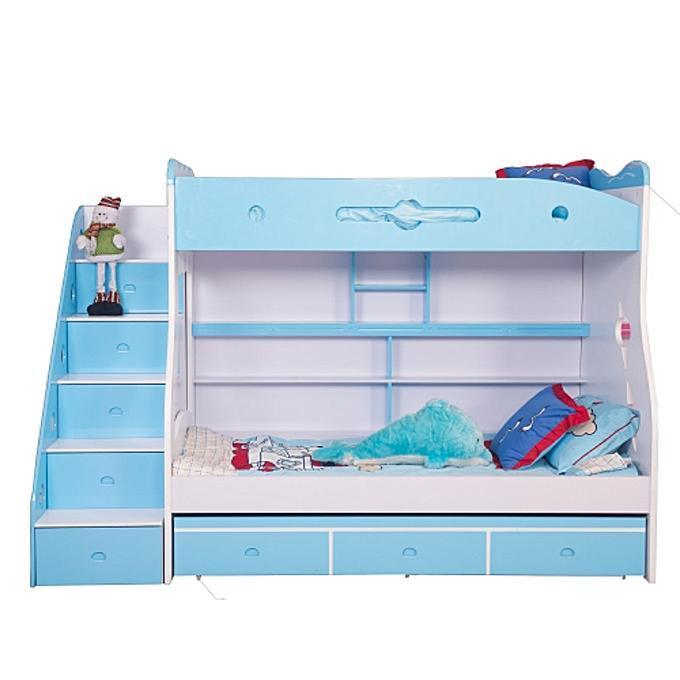 Children's Blue Bunk Bed Frame