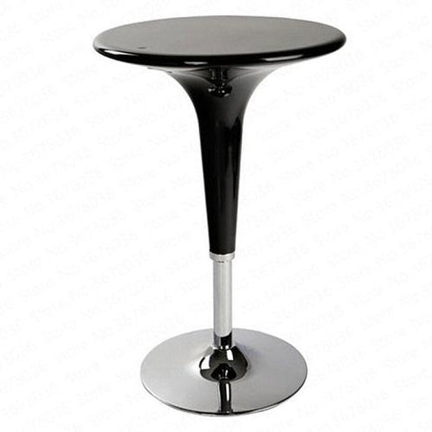Chrome Bar Stool Table Black