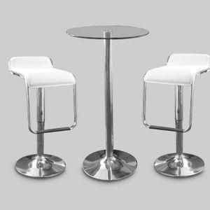 Chrome Bar Stool White and Table