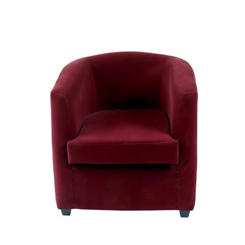Club Chair with Suede