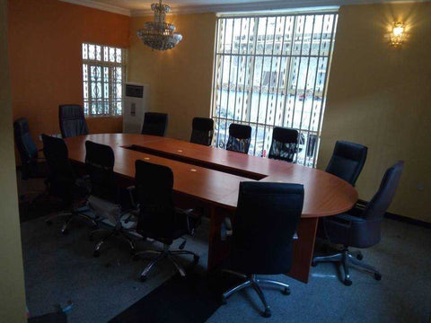 Conference Table 10 - 12 man 4.2m x1.5m in laminate board