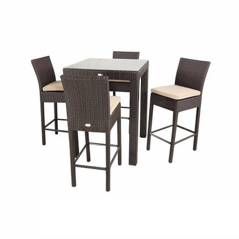 Copy of AIKO OUTDOOR RATTAN BAR TABLE AND CHAIR SET