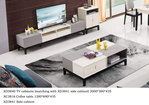 Copy of Coffee table + TV Console + Side cabinet- XD3841