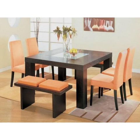 Dining Set - Orange - 7 Piece