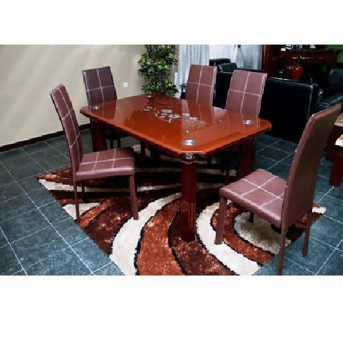 Dining Table + 6 Chairs + Centre Rug Bundle