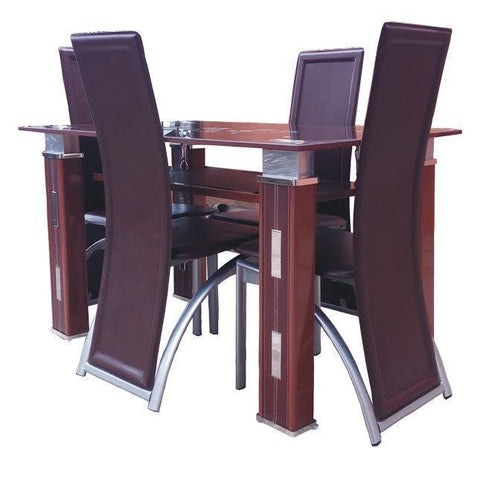 Dining Table set - Brown-Quard-46