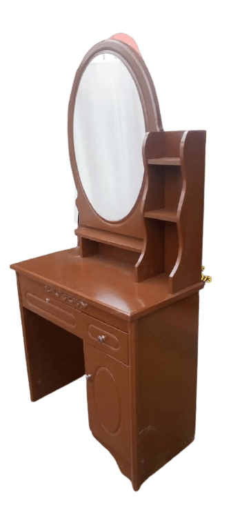 Dresser With Oval Mirror & Stool