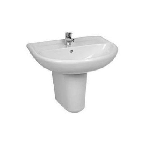 ECE DL Washbasin 51cm with Semi-Pedestal and Fixing Kit