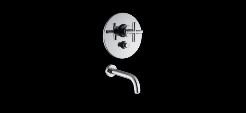 Enfasi Built-In Shower Mixer With Diverter+Wall Spout