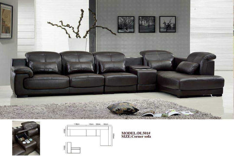 Envy Sectional Leather Sofa Set-DL501