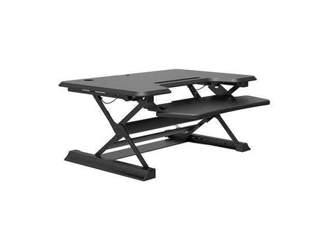 Ergonomic Height Adjustable Sit-to-Stand Computer Desk with Retractable Keyboard Tray