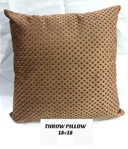 Exotic Throw Pillow-Brown