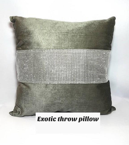Exotic Throw Pillow-Grey