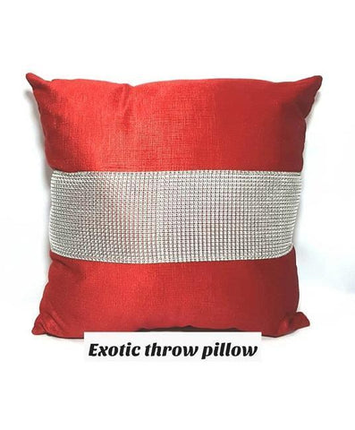 Exotic Throw Pillow-Red