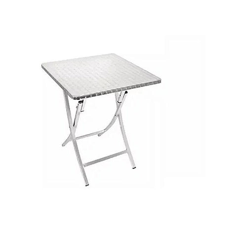 Foldable Aluminum Table - 80 x 80 In Diameter